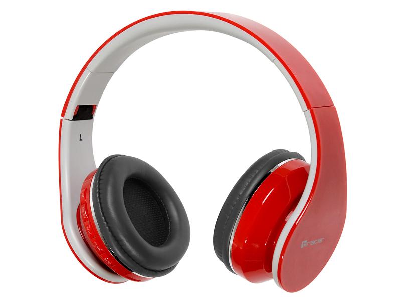 słuchawki bluetooth tracer mobile red