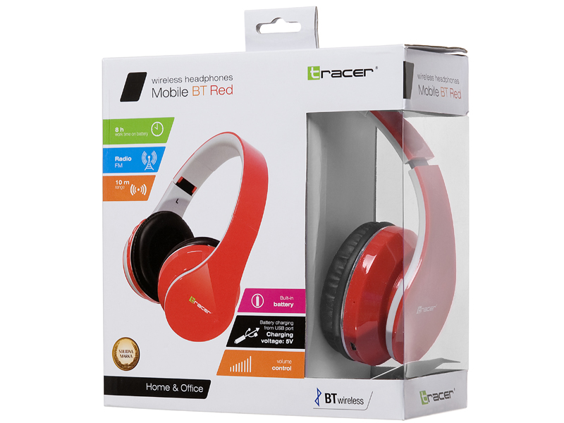 Słuchawki TRACER Mobile BT RED